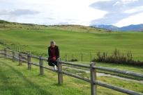 Sitting on the fence at Wedderburn Station, Central Otago, NZ