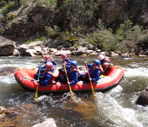 Rafting on the Mitta Mitta River, Victoria, Australia