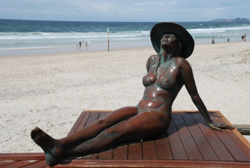 This sculpture is not part of this year's festival, but lives permanently on the Currumbin foreshore.