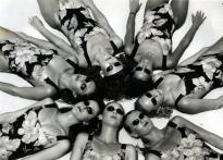 This lovely summer shot by Australian photographer Tommy Campion was taken for a promotion of sunglasses, he says.  But I was taken by the fact that he was able to convince seven women to all be seen on the same beach wearing the same swimsuit. A miracle indeed!