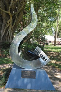 David Helfgott sculpture, Bellingen NSW
