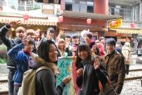 Young lantern makers, Sky Lantern Festival, Pingxi