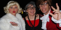 Meeting the...umm...stars, Marilyn and Austin, at the Tourism & Events Queensland function.