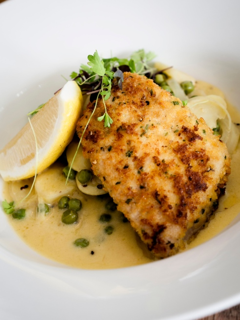 Parmesan crusted snapper fillet at Helm (Photo: Andrew Jarvie).