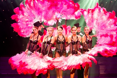 Bejewelled and feathered, the showgirls (and guys) of Cabaret de Paris.