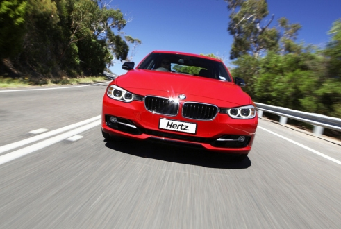 Even a luxury BMW is within rental reach of young drivers with Hertz's new policy.