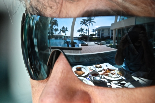 Reflecting on the end of breakfast at Sheraton Mirage...
