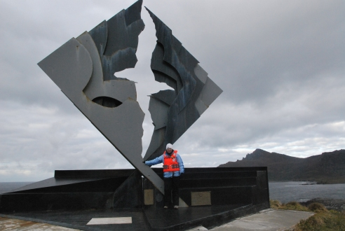 Albatross monument at Cape Horn.