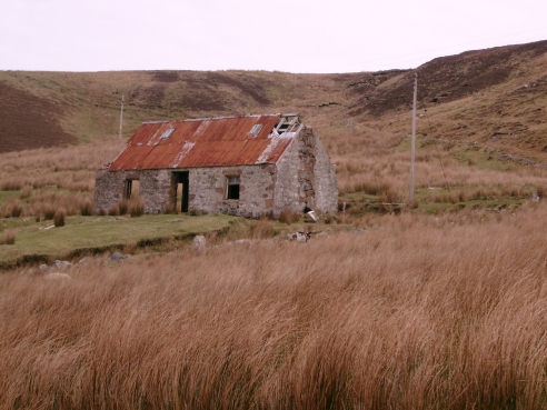 Derelict cottage in the Scottish Highlands.