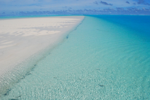 Sandbar, Aitutaki lagoon, Cook Islands.