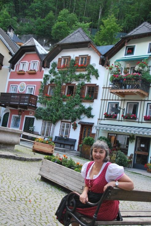 Wearing a dirndl in Hallstatt was so much fun!