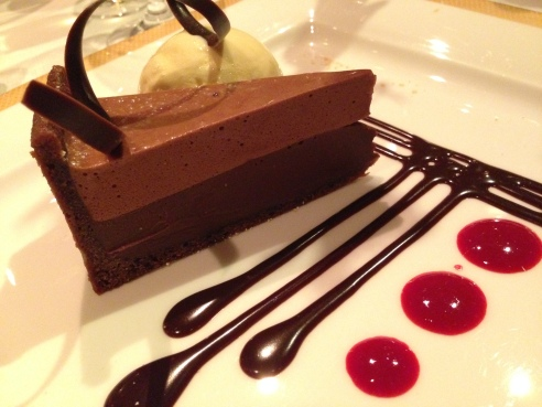 Black-bottomed tart at Todd English.