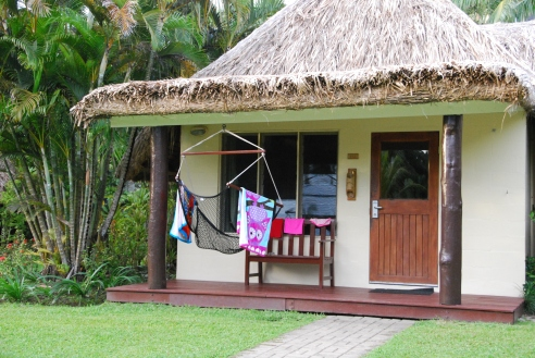 One of the many styles of accommodation at Outrigger on the Lagoon Fiji - this one is great for families.