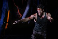 Jason Klarwein as Macbeth in the QTC production under Michael Attenborough, photo Rob Maccoll 4