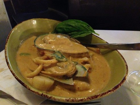 Seafood curry at Mahsuri Thai