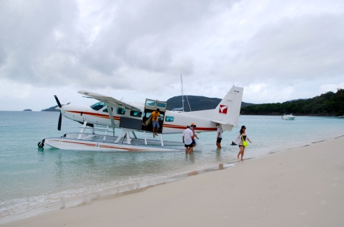 Landing at Whitehaven Beach