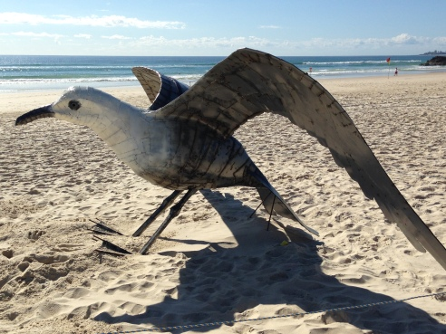 Seagull by Ibrahim Koc (Turkey). I still remember his giant mosquito from SWELL 2012!