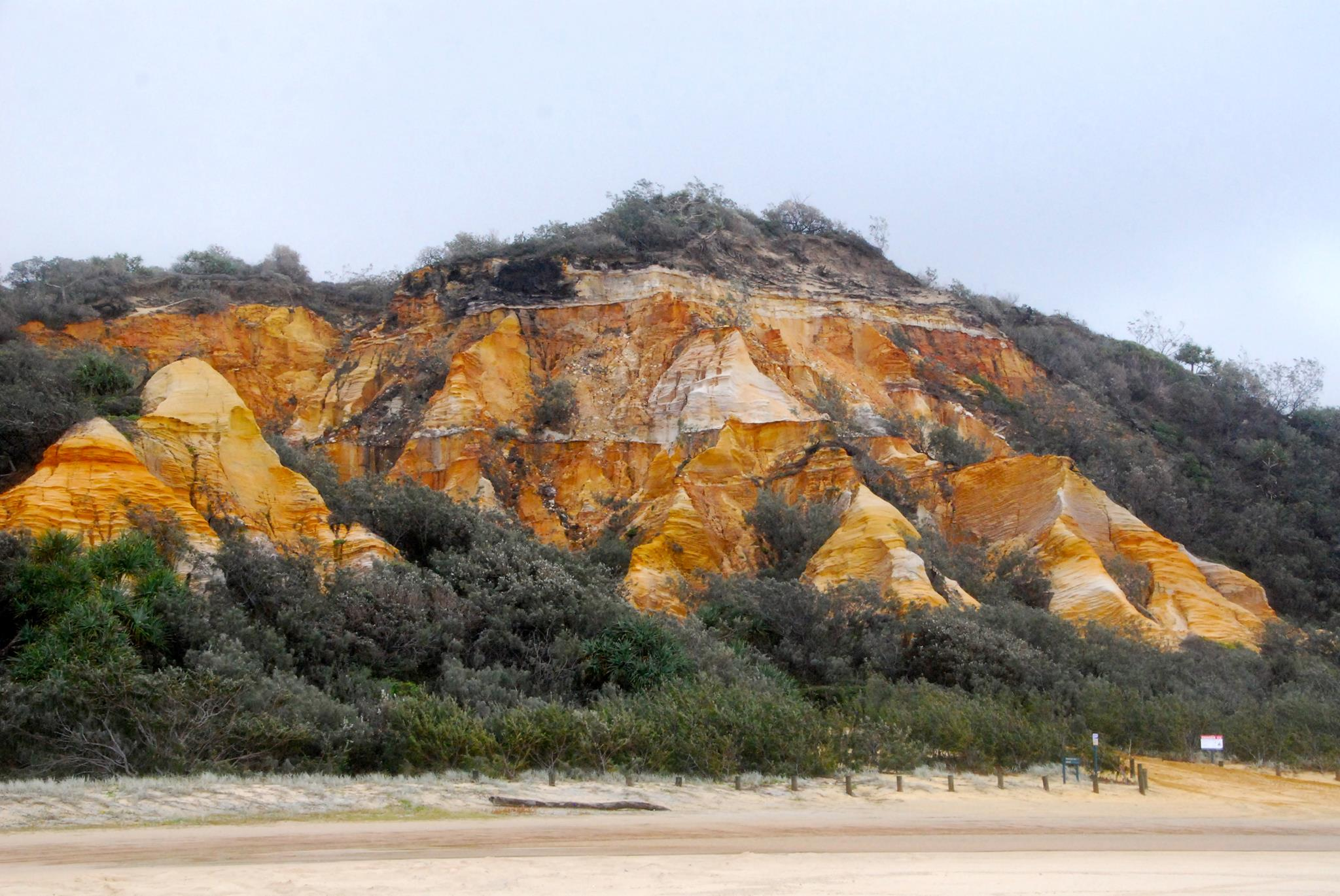 The Pinnacles Coloured Sands Fraser Island