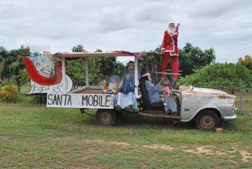 Christmas on the truck, Herberton, north Queensland.