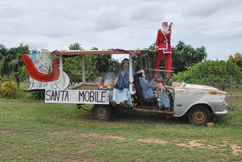 Christmas on the truck, Herberton, north Queensland.