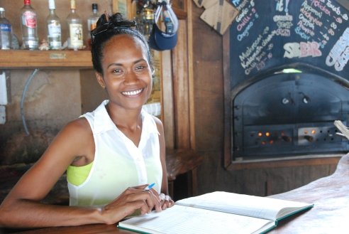 This is Caroline, the receptionist at ....hotel on Gizo.