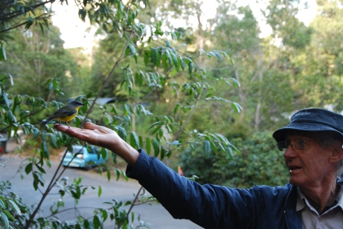 Naturalist Glen Threlfo has an affinity with the birds.