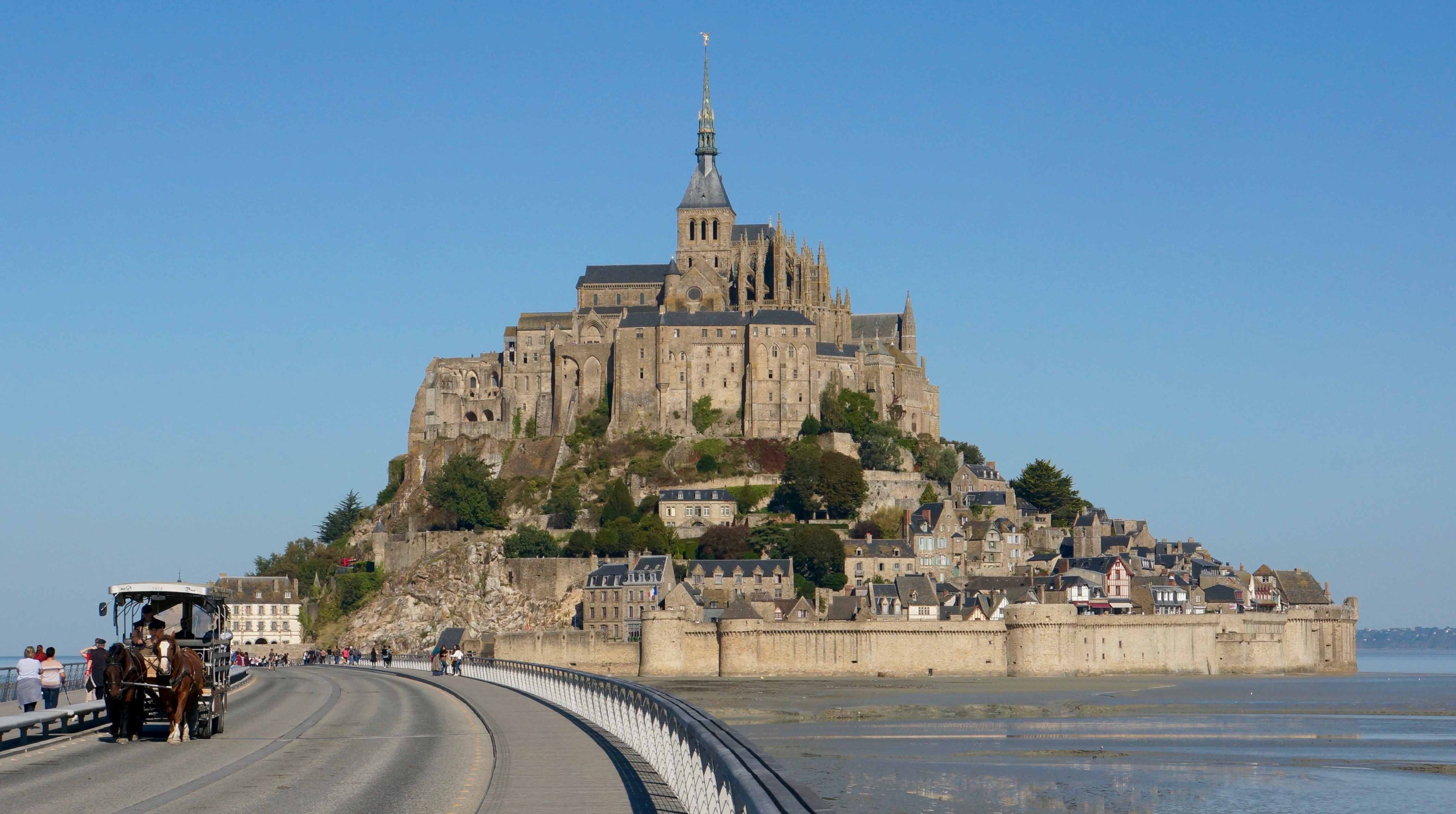 Mont St Michel, Normandy, France.
